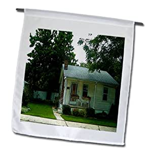 Jos Fauxtographee Realistic - A Posturized home in Salt Lake City, Utah in white - 12 x 18 inch Garden Flag (fl_61440_1)