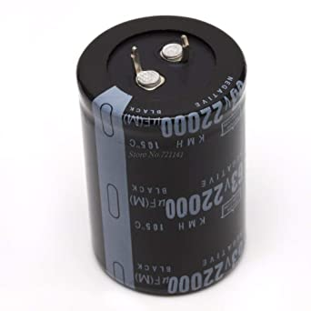 Dimension Cylindrical 63V 22000UF Aluminum Electrolytic Capacitor 105°C`