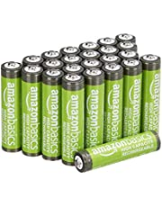 Amazon Basics 24-Pack AAA High-Capacity 850 mAh Rechargeable Batteries, Pre-Charged, Recharge up to 500x