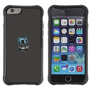 Fuerte Suave TPU GEL Caso Carcasa de Protección Funda para Apple Iphone 6 / Business Style Big Robot