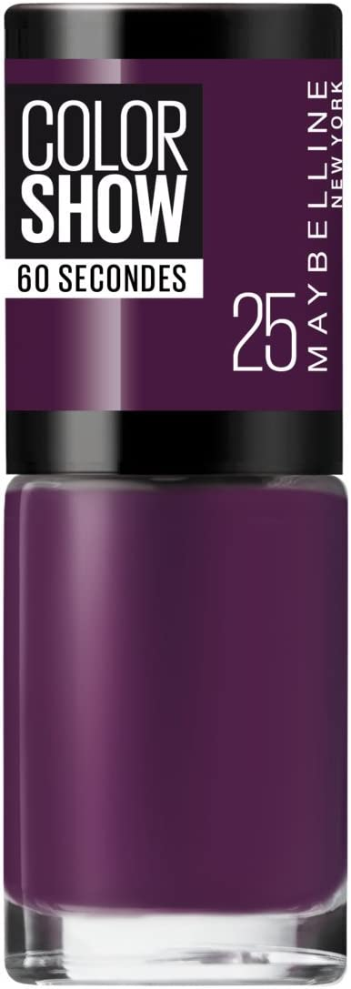Maybelline New York Color Show Laca de Secado Rápido, 25 Plum It Up
