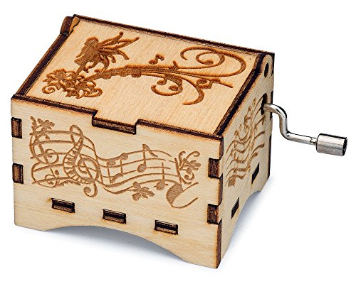 TheLaser'sEdge, You are My Sunshine, Personalizable Music Box, Laser Engraved Birch Wood (Fairy Standard) (Box Music Fairy)