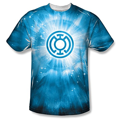 Energy -- Blue Lantern All-Over Front Print Sports Fabric T-Shirt