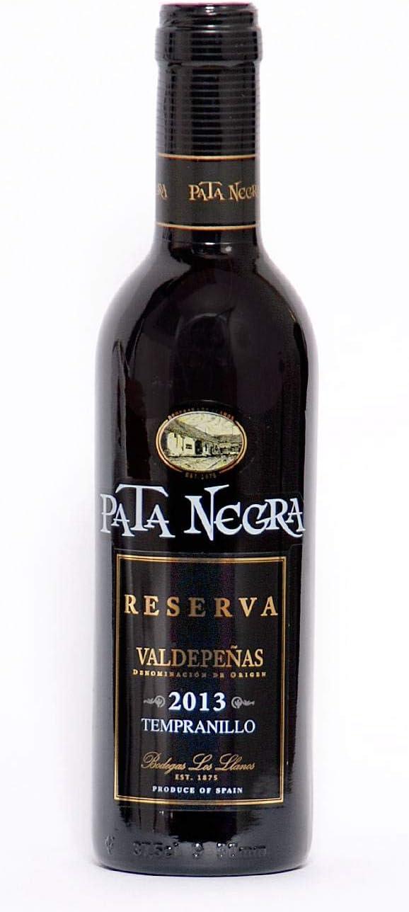 Lote de 24 Botellines Botellas Vino Pata Negra Valdepeñas Reserva 375ml - Vinos Baratos para Detalles de Bodas