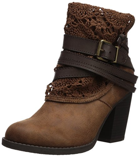 Replacement Boot Buckles - Sugar Women's Sgr-Puzzled Ankle Boot, Cognac Distressed Fabric, 8 Medium US