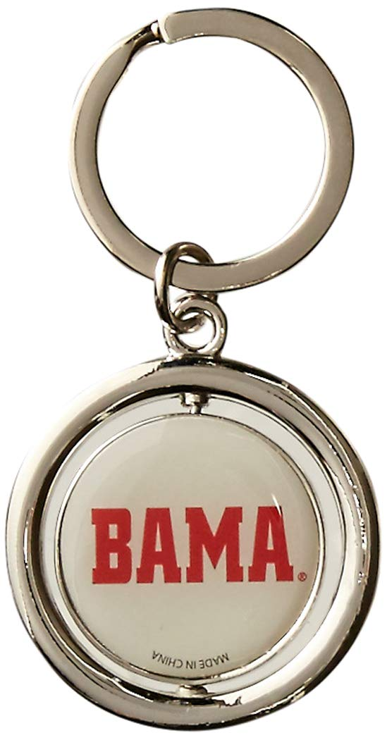 One Size Red FOCO NCAA Alabama Crimson Tide Football Spinner Keychain