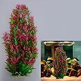 Ray-JrMALL Rhodo Green Plastic Water Plant for Aquarium Fish Tank Ornament Decoration