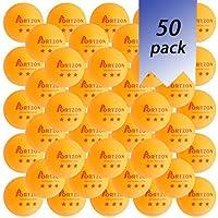 Pelotas de tenis de mesa de entrenamiento avanzado de 3 estrellas premium, 50 unidades, color naranja