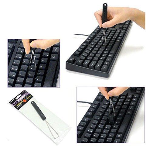 Hapurs Acero Key Extractor Extractor de la tapa de tecla / tecla clave Mozo de cuerda para teclado mecánico para Extracción de herramientas de fijación del teclado
