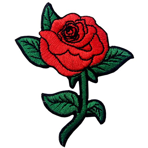 Red-Rose-Embroidered-Badge-Iron-On-Sew-On-Patch