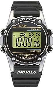 Timex Atlantis T77511 - Reloj digital de cuarzo para hombres, correa de resina, color negro