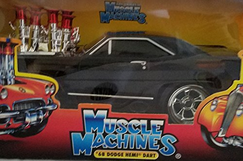 1968 Dodge Hemi Dart Muscle Machines 1:18 Die Cast Metal Car Black