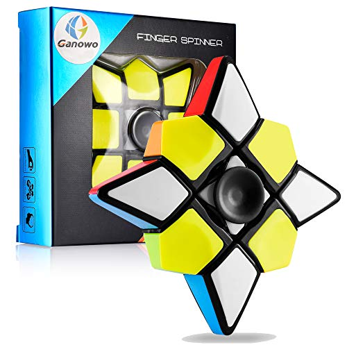 (Ganowo Fidget Toy Floppy Cube, Brain Teasers Magic Puzzle Cubes Smart Toys for Boys Girls Smooth Cube Stickerless 1x3x3)