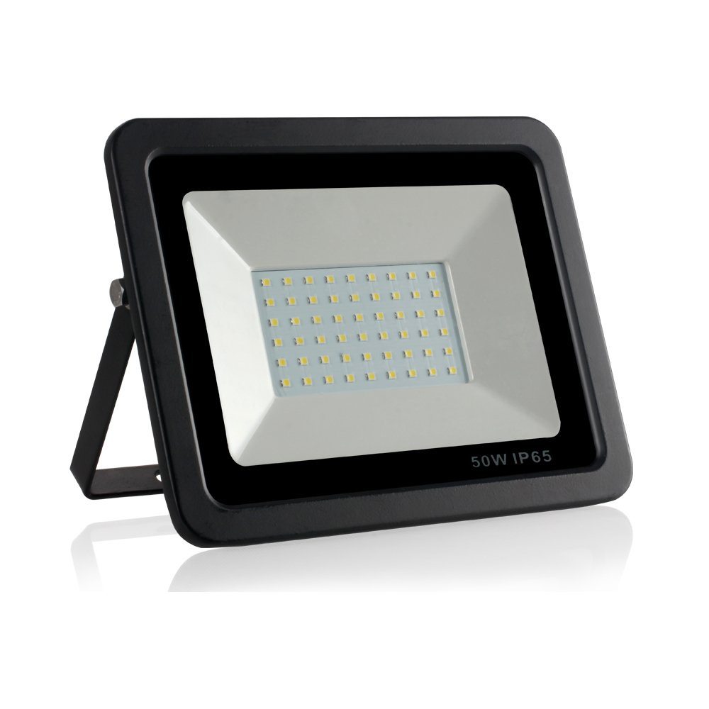 50W LED Flood Lights, IP65 Waterproof, 5000Lm/6000K, Super Bright Outdoor Work Light, 250W Halogen Bulb Equivalent, Outdoor Floodlight for Garage, Garden, Streets, Home(Daylight White)