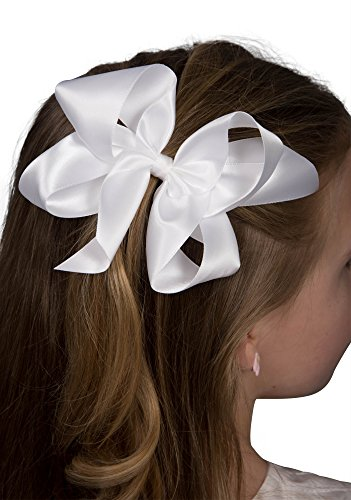 Satin Ribbon Hair Bow Large 5