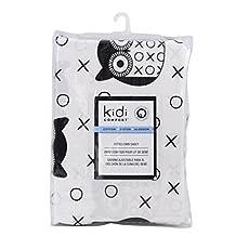 Kidiway 3047 kidicomfort Fitted crib sheet - 100 % Cotton - Black Owl