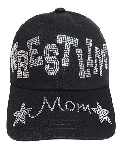 Rhinestone Wrestling Mom Baseball Cap Hat Sports by Spirit Caps