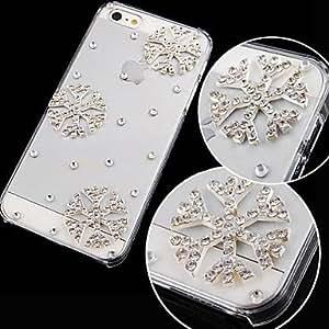 HP- copo de nieve con diamantes trasera para el iPhone 4 / 4s