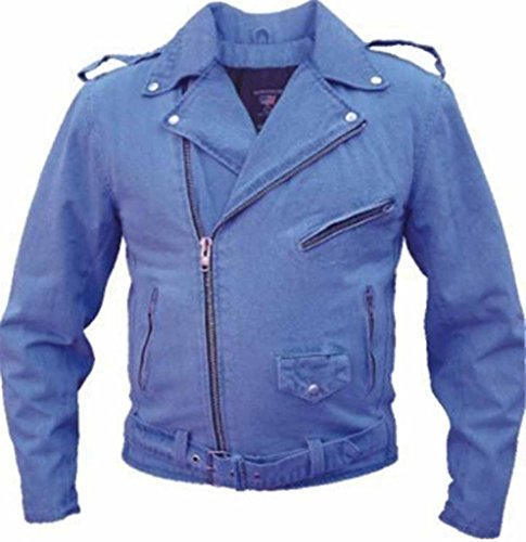 Mens Leather Motorcycle Jeans - 7