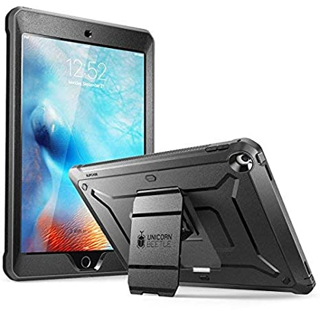 buy popular 86e0e c6143 SUPCASE iPad 9.7 Case 2018/2017, [Unicorn Beetle PRO Series] Full-body  Rugged Protective Case with Built-in Screen Protector (Black/Black)