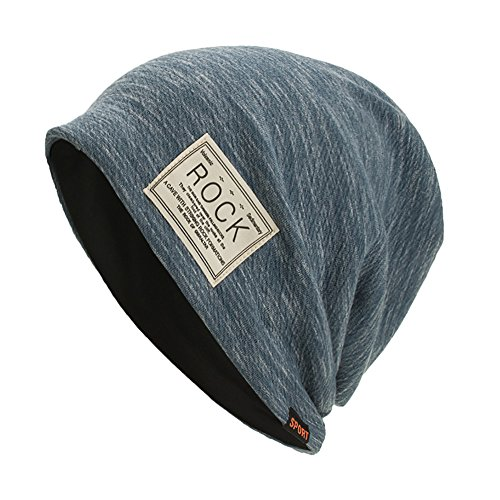 Columbia Wool Beanie - Hot Sales!! ZOMUSAR Winter Warm Baggy Original Beanie Cap - Soft Knit Beanie Hat - Warm and Durable (Blue)