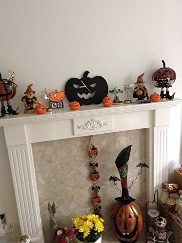 Halloween Pumpkin Silhouette - Wall Clock]()