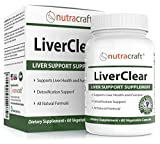 LiverClear Liver Cleanse & Support Supplement - Advanced Formula for Liver Detox and Health - 100% Money Back Guarantee - 60 Vegetable Capsules