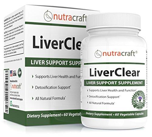 Ergänzungsmittel zur Leber Reinigung & Unterstützung - Erweiterte Formel für Leber Detox und Gesundheit - 100% Geld-Zurück-Garantie - 60 Gemüse-Kapseln