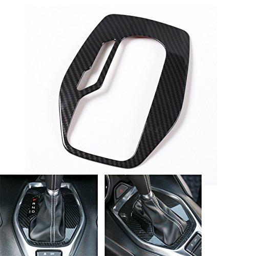 Nicebee ABS Carbon Fiber Grain Car Interior Door Handle Window Lift Switch Gear Shift Panel etc Trim Cover Styling For Chevrolet Camaro 2017+ (Gear Shift Trim Cover)
