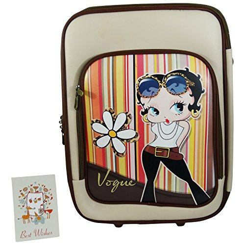 Betty Boop Vogue Trolley da Viaggio Valigia Morbida Bagaglio da Donna