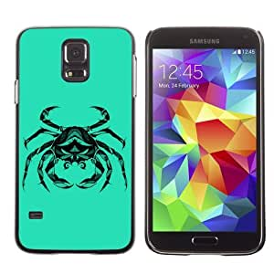 Licase Hard Protective Case Skin Cover for Samsung Galaxy S5 - Cool Crab Cancer Zodiac Tattoo