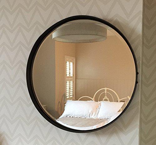 Steel Magnolias Runder Spiegel 55cm Durchmesser gealterte Rost Farbe Steel Magnolias Furniture Ltd