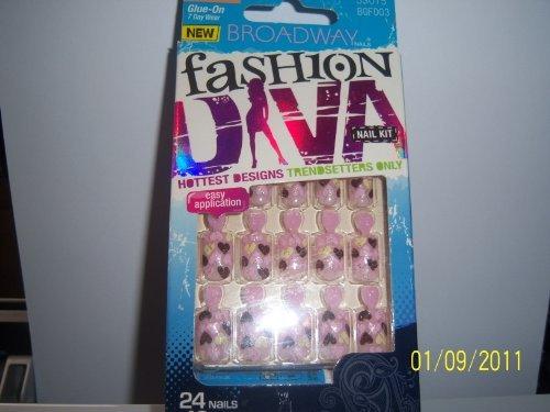 Broadway Fashion Diva Nail Kit #BGFD03 Lipstick Broadway Fashion Diva Glue