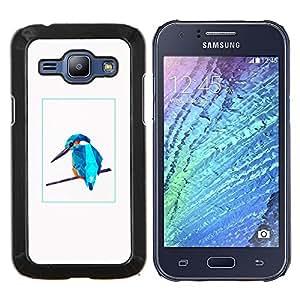 YiPhone /// Prima de resorte delgada de la cubierta del caso de Shell Armor - Blue Bird - Samsung Galaxy J1 J100