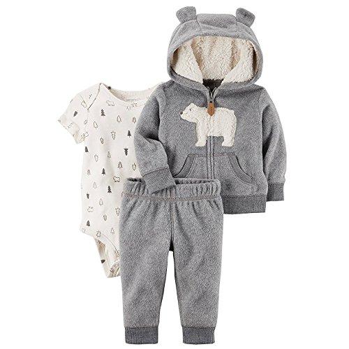 Baby Boy Clothing Sets (Grey) - 3
