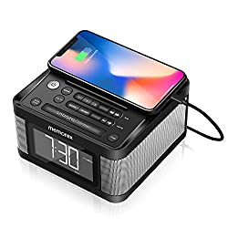 Memorex 2 USB Charging Alarm Clock Radio with Big 1.2 LCD Display, FM Radio, 2 Big Speaker Drivers, Display Dimmer, Snooze, Sleep Timer and Universal Line-in Connection