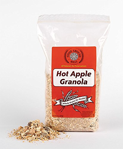 Stone Ground Mills Hot Apple Granola, All Natural, 16 oz (case of six)