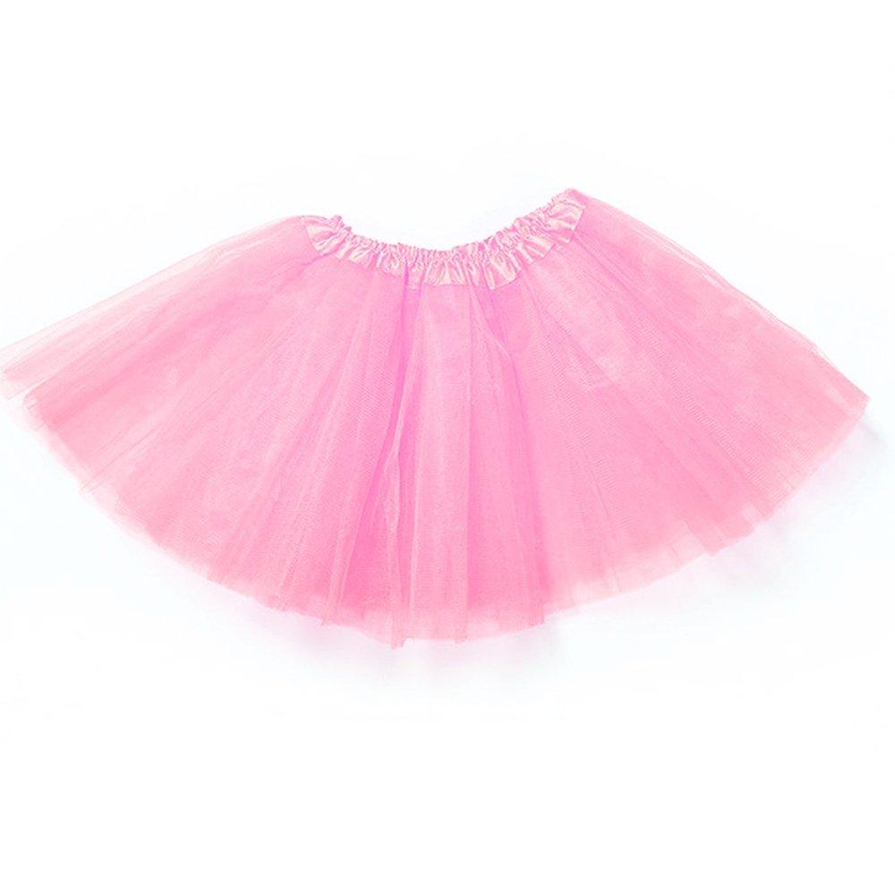 houzhi - Vestido de Bailarina para niñas con Falda tutú para Ballet, péticoats y Bailes (Rosa Rojo) hou zhi liang