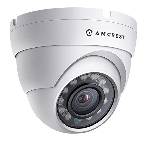 Amcrest ProHD Outdoor 1080P POE Dome IP Security Camera – IP67 Weatherproof, 1080P (1920 TVL), IP2M-844E (White) (Certified Refurbished)