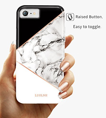 iPhone 5 Case,iPhone 5S SE Case,LUOLNH Marble Design Slim Shockproof Flexible Soft Silicone Rubber TPU Bumper Cover Skin Case for iPhone 5 5s SE ...