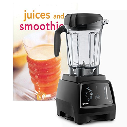 Vitamix G-Series 780 Black Home Blender with Touchscreen Control Panel and Bonus Tuttle Juices and Smoothies Cookbook