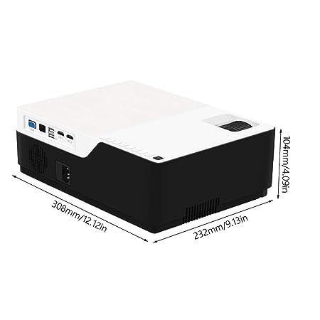 Heaviesk M18 1080P Full HD 3D Proyector de Cine en casa 5500 ...
