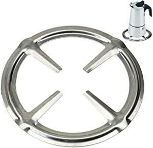 ToSSme Stainless Steel Gas Ring Reducer Trivet Stove Top Hob Cooker Heat Simmer Coffee Pots Kitchen Utensil