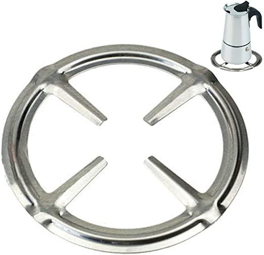 Kitchen Craft Gas Ring Reducer Stainless Coffee Espresso Maker Stove Top Trivet