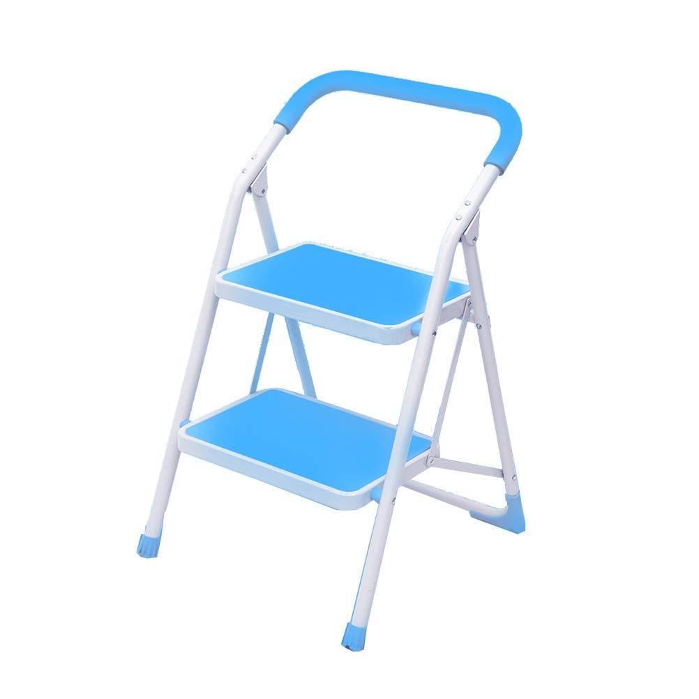 4  Step Stool Wooden - Trittleiter Leichter Ladder Chair Faltbarer tragbarer Tritthocker mit Handlauf, max. 150 kg Welcome (größe   4 )