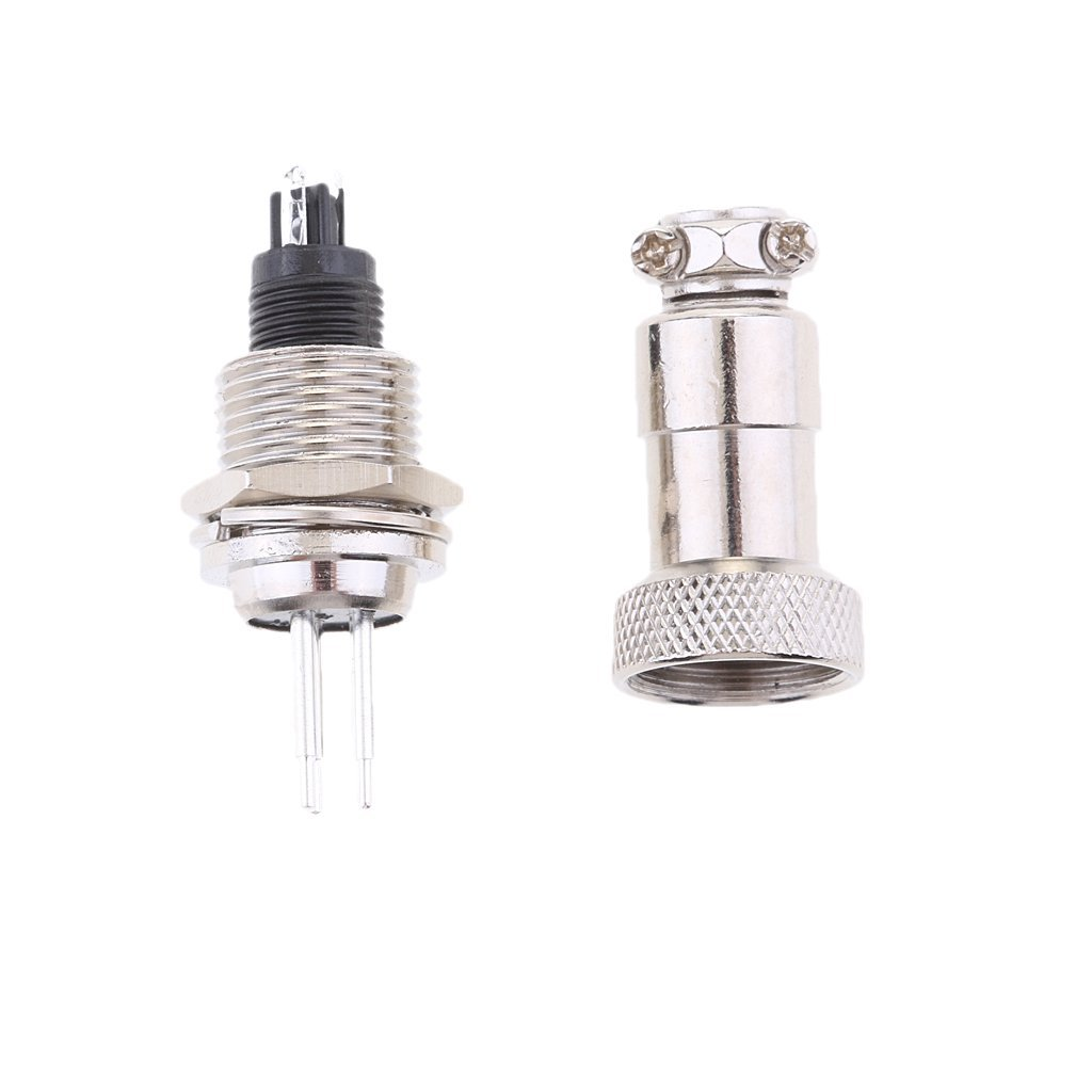 Baoblaze Silver GX12 Metal Aviation Plug Male and Female Panel Connector Easy Use - 3pins by Baoblaze (Image #3)