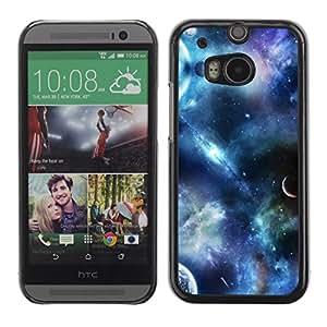 Silicona Carcasa protectora para HTC Uno M8 2014 Compatible con - planetas Fantasía cielo ciencia ficción cosmos