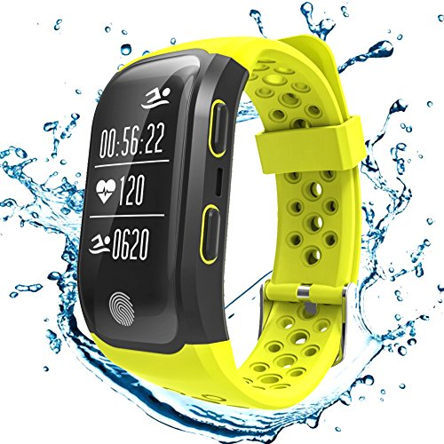 Goophone Fitness Trackers Watch GPS Heart Rate Sleep Monitor Pedometer IP68 Waterproof Smart Band iPhone & Android