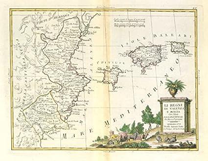 Map Of Spain Showing Murcia.Amazon Com Li Regni Di Valenza E Murcia Valencia The
