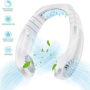 Portable fan,Hanging Fan Air Conditioning Radiator,personal neck fan ,USB mini portable 2 in 1 air conditioner mini air conditioner,portable hanging neck cooling fan,ideal for travel,sports and office